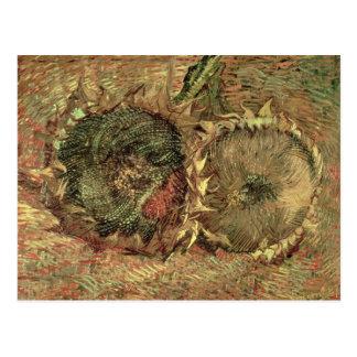 Cartão Postal Vincent van Gogh   dois girassóis cortados, 1887
