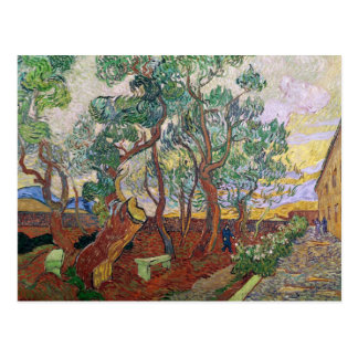Cartão Postal Vincent van Gogh | o jardim do hospital de St Paul