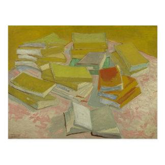 Cartão Postal Vincent van Gogh - pilhas de novelas francesas