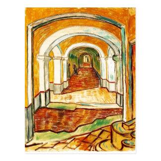 Cartão Postal Vincent van Gogh sumário - corredor no asilo