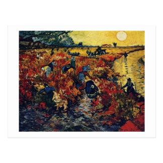 Cartão Postal Vinhedo vermelho, Van Gogh, 1888