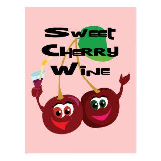 Cartão Postal Vinho da cereja doce