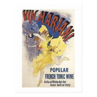 Cartão Postal Vinho francês mariano do tónico de Vin