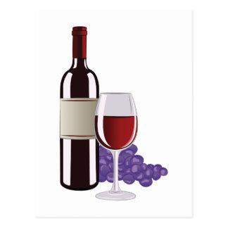 Cartão Postal Vinho & uvas
