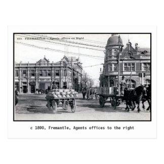 Cartão Postal Vintage 1890 Fremantle, Perth, Austrália