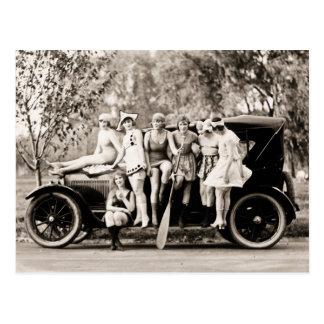 Cartão Postal Vintage 1918 das meninas de Mack Sennett