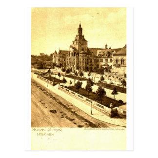 Cartão Postal Vintage 1924 de Munich Alemanha do Museu Nacional