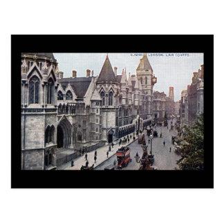 Cartão Postal Vintage 1925 de Londres Inglaterra das cortes de