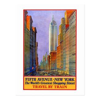 Cartão Postal Vintage, 5a avenida New York