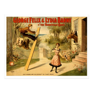 Cartão Postal Vintage - a mania do vaudeville