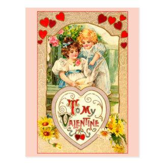 Cartão Postal Vintage a meus namorados