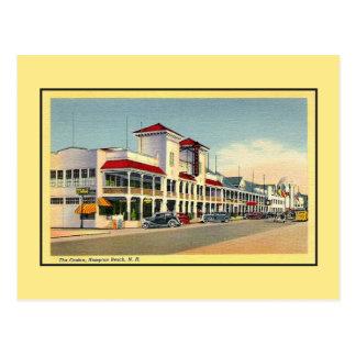 Cartão Postal Vintage a praia NH de Hampton do casino
