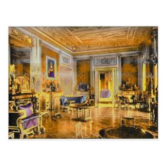 Cartão Postal Vintage a sala de estar verde, castelo de Windsor