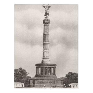 Cartão Postal Vintage Alemanha, coluna de Siegessaule
