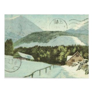 Cartão Postal Vintage Alemanha, estância de esqui, 1926