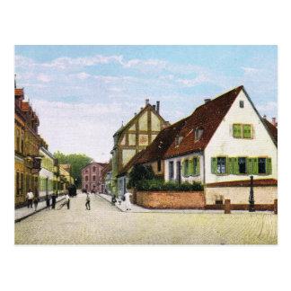 Cartão Postal Vintage Alemanha, Germersheim Fischerstrasse