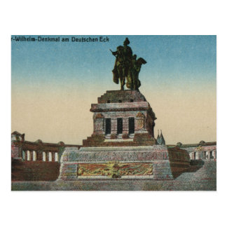 Cartão Postal Vintage Alemanha, Koblenz, Deutches Eck, monumento