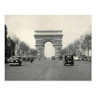 Cartão Postal Vintage Arco do Triunfo France