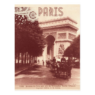 Cartão Postal Vintage Arco do Triunfo, Paris, 1903