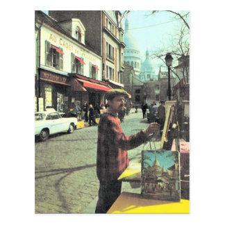 Cartão Postal Vintage artista de Paris, Paris, de colocado