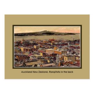 Cartão Postal Vintage Auckland Nova Zelândia, ilha de Rangitoto