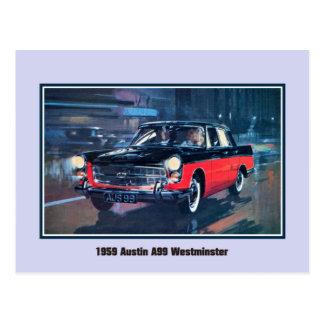 Cartão Postal Vintage Austin 1959 A99 Westminster
