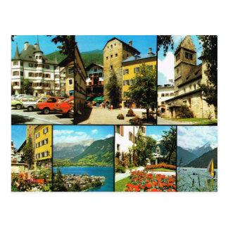 Cartão Postal Vintage Áustria, Berstadt, Zell am Zee, Salzburg