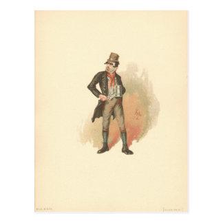 Cartão Postal Vintage Bill Sikes Oliver Twist