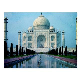 Cartão Postal Vintage boémio Taj Mahal de India Agra do viagem