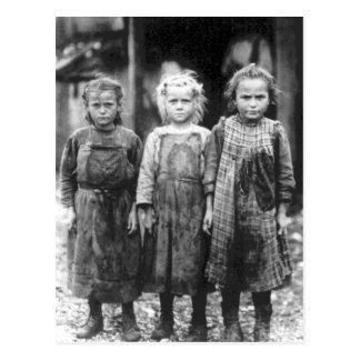 Cartão Postal Vintage bonito South Carolina de três meninas