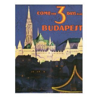Cartão Postal Vintage Budapest