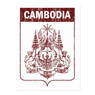 Cartão Postal Vintage Cambodia