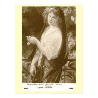 Cartão Postal Vintage da arte de Boye da mulher de Relique do La