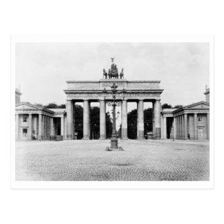 Cartão Postal Vintage da porta de Berlim, Alemanha Brandemburgo
