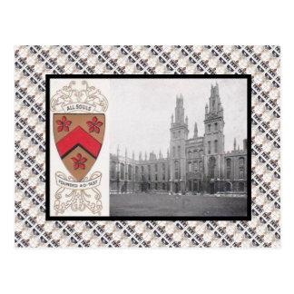 Cartão Postal Vintage da réplica, toda a faculdade Oxford das