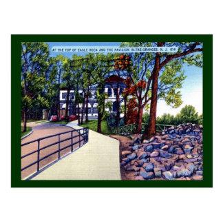 Cartão Postal Vintage das laranjas NJ do pavilhão da rocha de