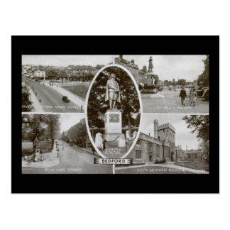 Cartão Postal Vintage de Bedford, Inglaterra Reino Unido