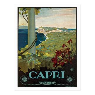 Cartão Postal Vintage de Capri Italia Italia
