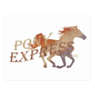 Cartão Postal Vintage de Pony Express