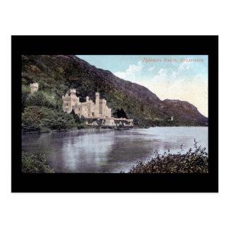 Cartão Postal Vintage do 1920 de Connemara Ireland do castelo de