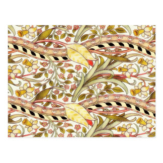 Cartão Postal Vintage do Daffodil de Dearle floral