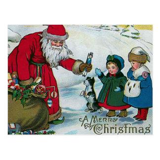 "Cartão Postal ""Vintage do Feliz Natal"""