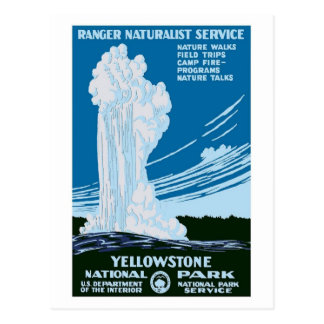 Cartão Postal Vintage do parque nacional de Yellowstone