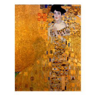 "Cartão Postal Vintage do retrato de Gustavo Klimt ""Adele"""