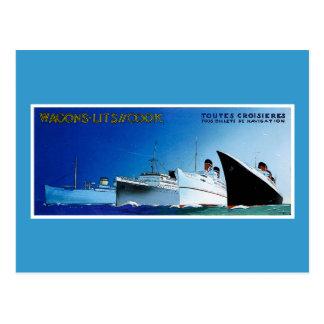 Cartão Postal Vintage dos navios de cruzeiros do cozinheiro de