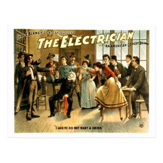 Cartão Postal Vintage - eletricista