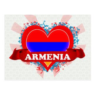 Cartão Postal Vintage eu amo Arménia