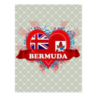 Cartão Postal Vintage eu amo Bermuda