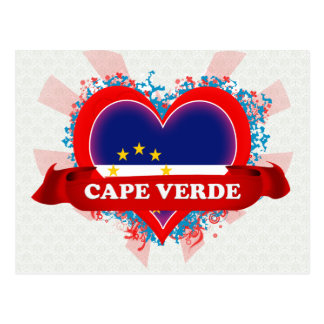 Cartão Postal Vintage eu amo Cabo Verde