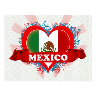 Cartão Postal Vintage eu amo México